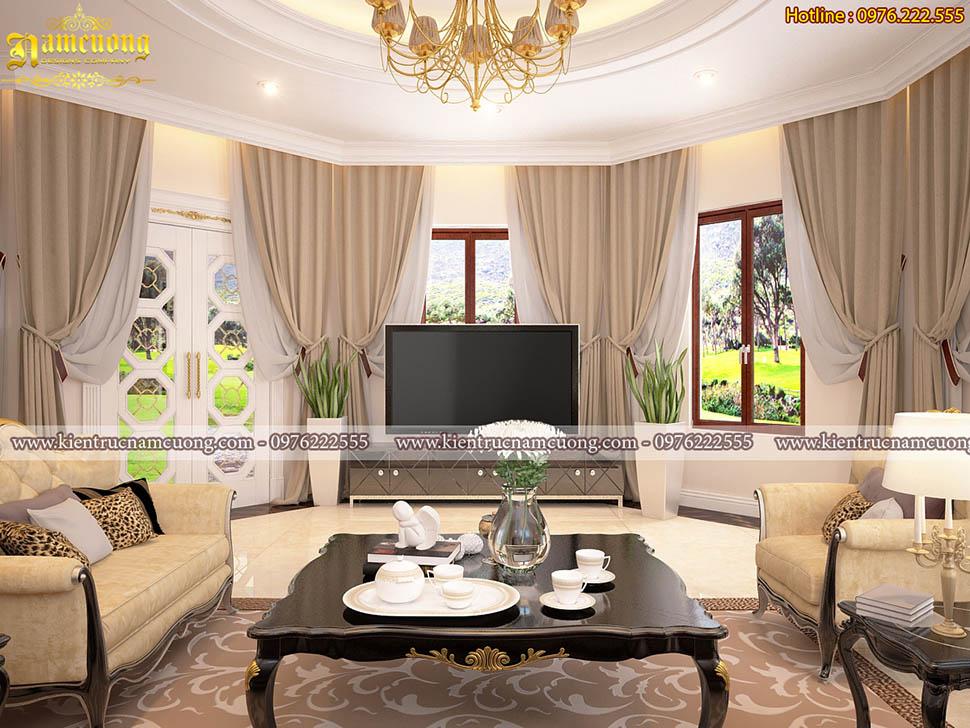 Sang trọng với mẫu thiết kế nội thất tân cổ điển tại Thái Bình - NTBTCD 052