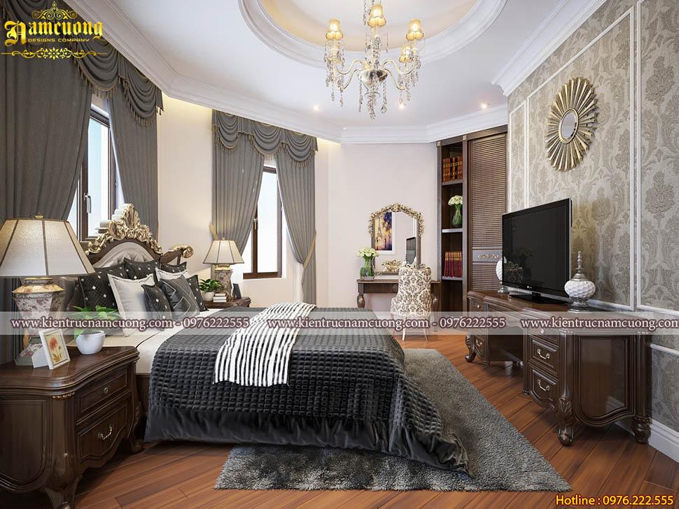 Thiết kế phòng ngủ cho biệt thự tân cổ điển tại Sài Gòn - PNTCD 075
