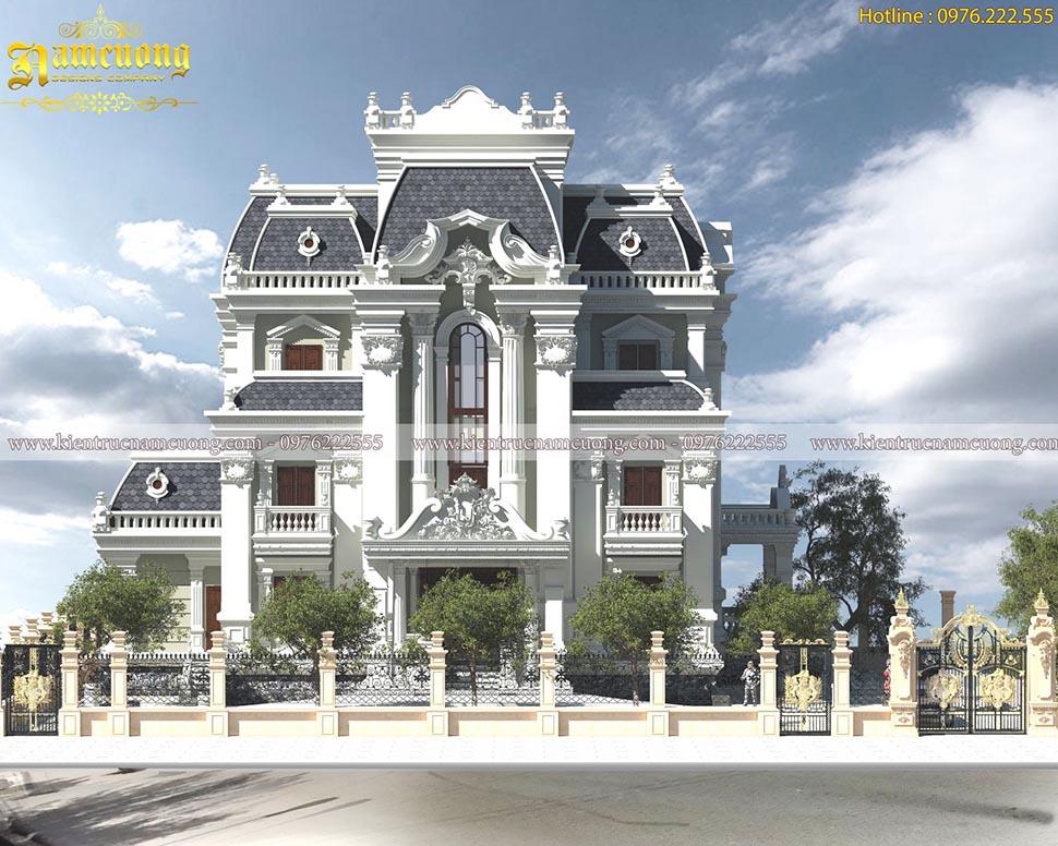 Mẫu thiết kế biệt thự lâu đài Pháp hoành tráng tại Sài Gòn - BTLD 026