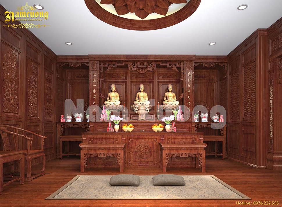 Mẫu thiết kế phòng thờ theo phong cách thời Trần