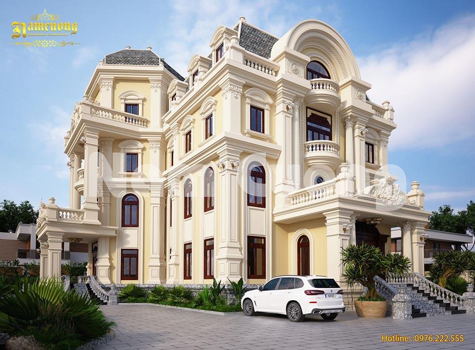 Thiết kế nhà đẹp- Ngôi biệt thự lâu đài kiến trúc Pháp