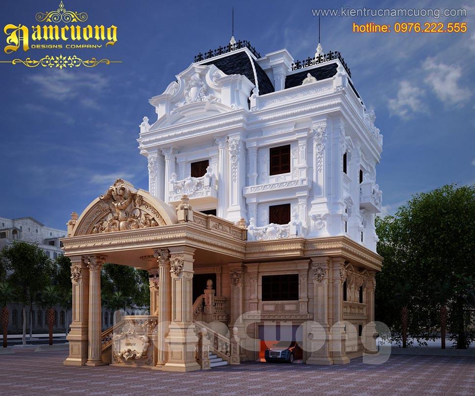 Mẫu biệt thự lâu đài đẳng cấp, sang trọng tại Sài Gòn - BTLD 008