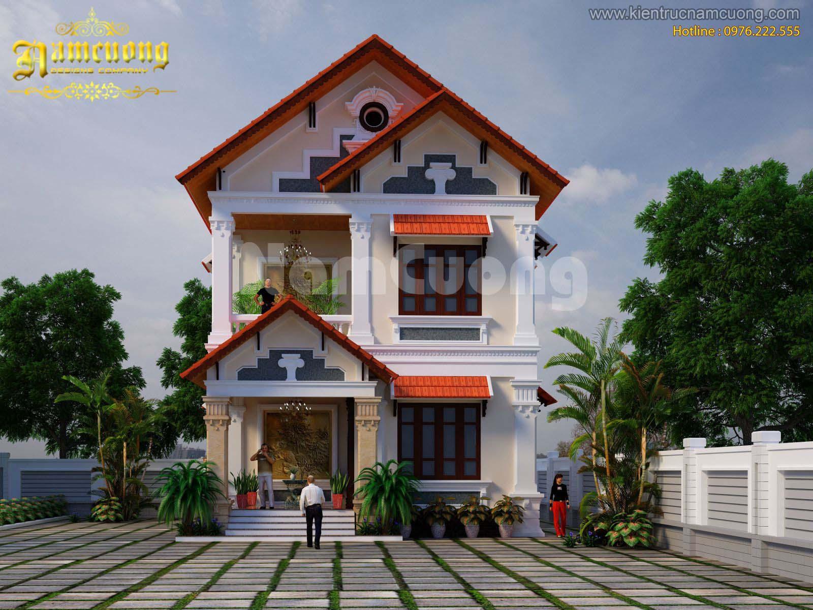 Mẫu biệt thự tân cổ điển 4 phòng ngủ đẹp tại Quảng Ninh