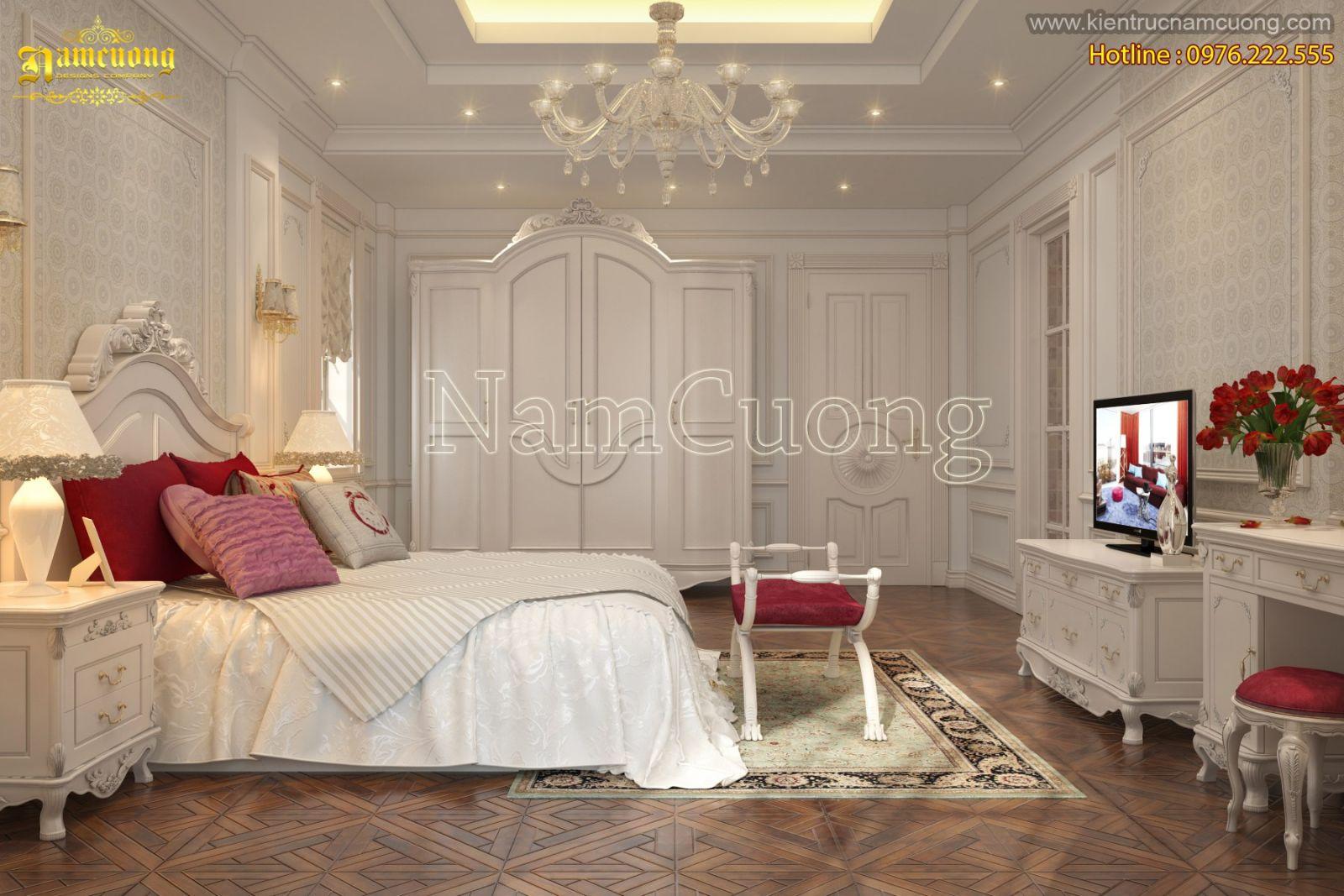 Thi công nội thất cho mẫu biệt thự kiểu châu âu sang trọng
