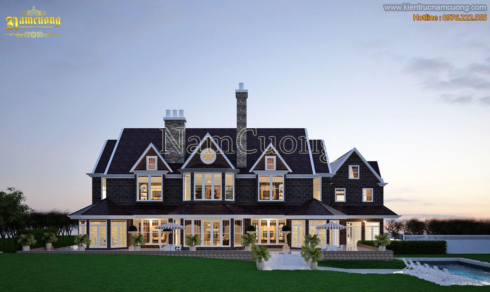 3 mẫu biệt thự phong cách châu Âu đẹp sang trọng của Kiến trúc Nam Cường