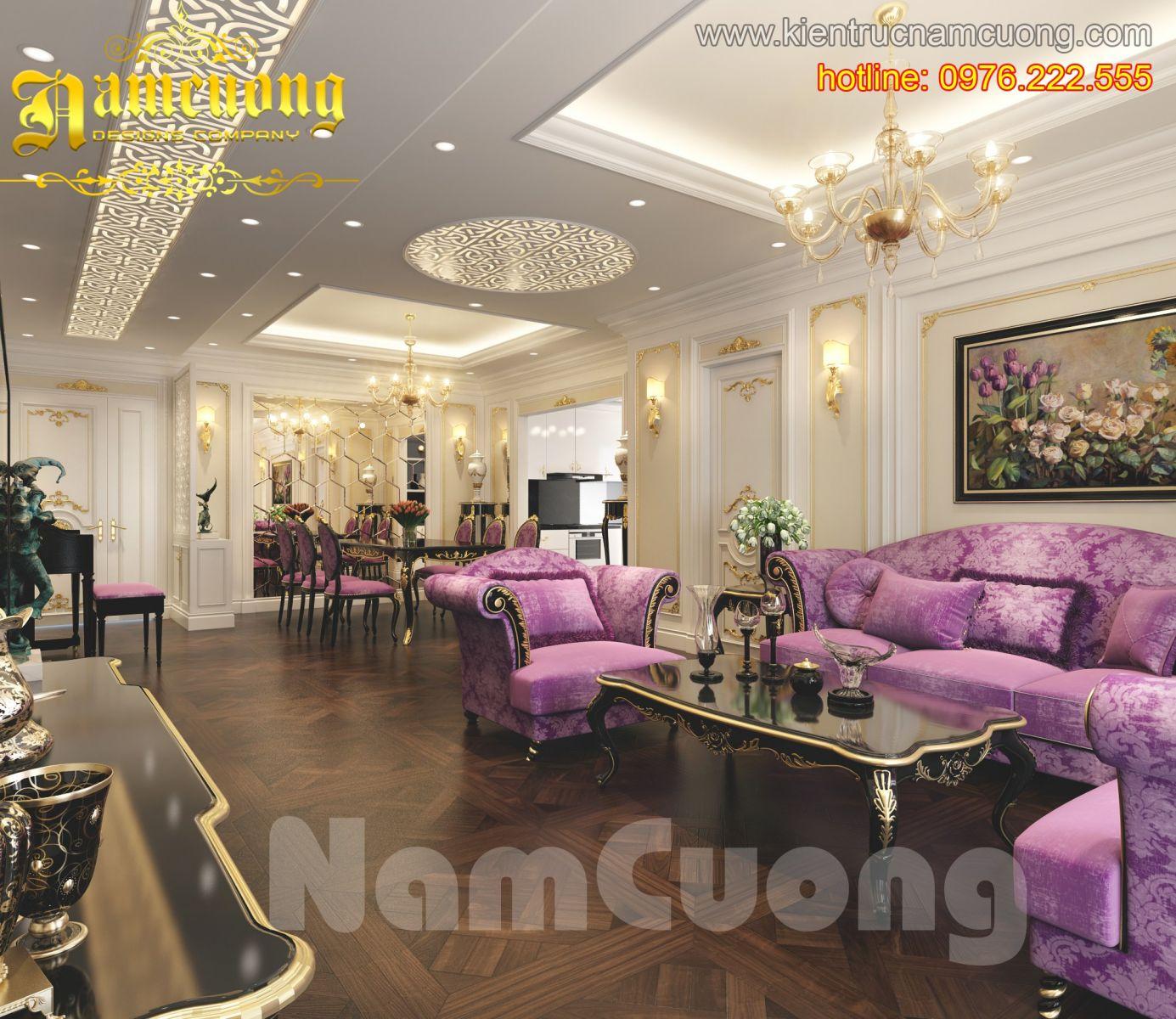 Thiết kế nội thất đẹp biệt thự Pháp tại Quảng Ninh - NTBTP 001