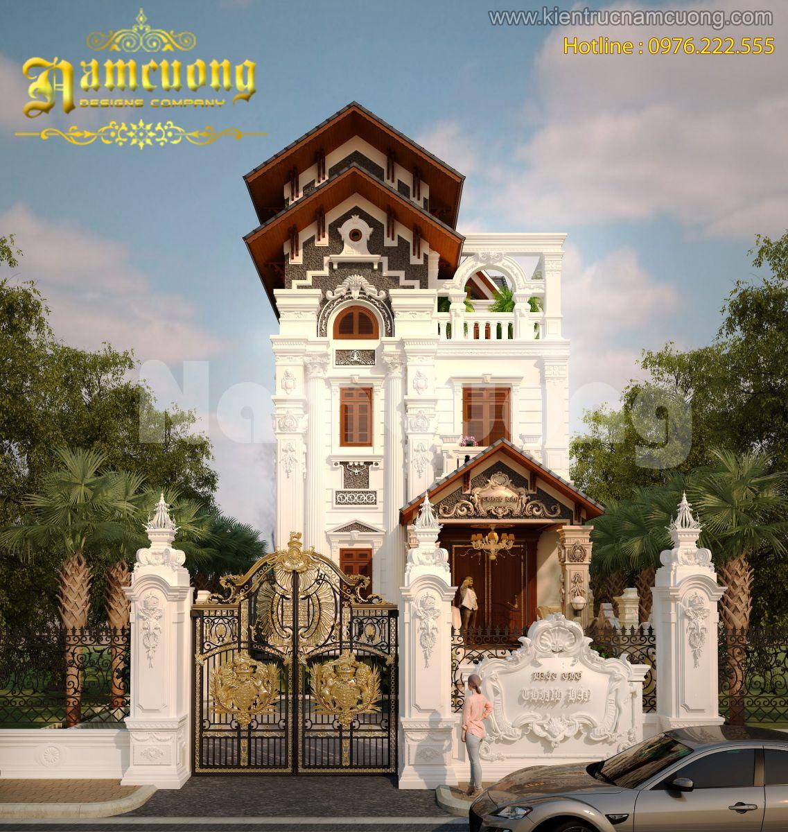 Ngắm nhìn biệt thự Pháp cổ điển 3 tầng tại Quảng Ninh - BTP 003