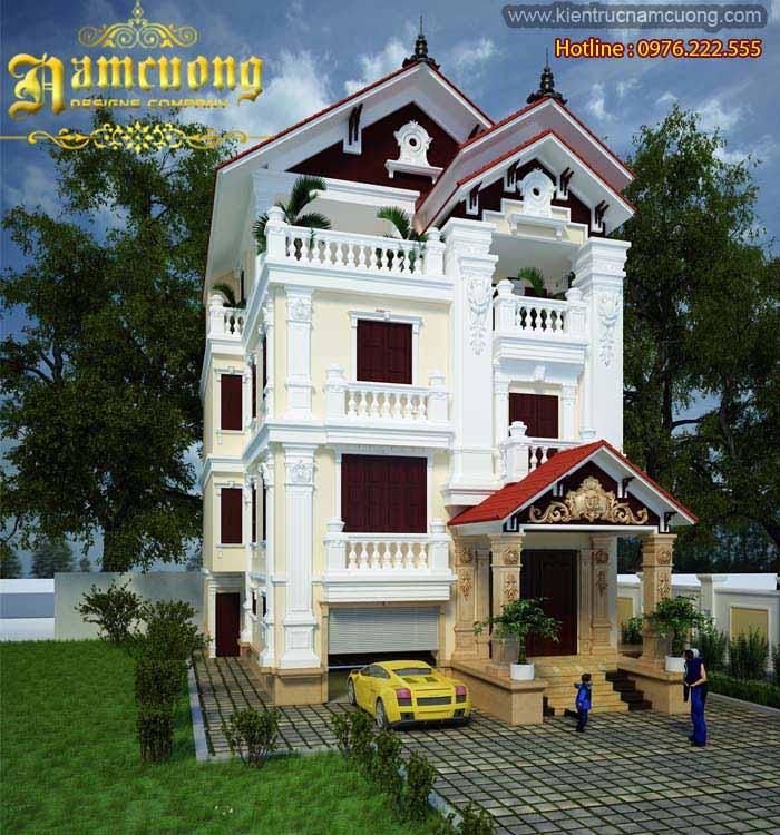Biệt thự Pháp- Nhà kiểu Pháp cổ 3,5 tầng tại Quảng Ninh - BTP 003