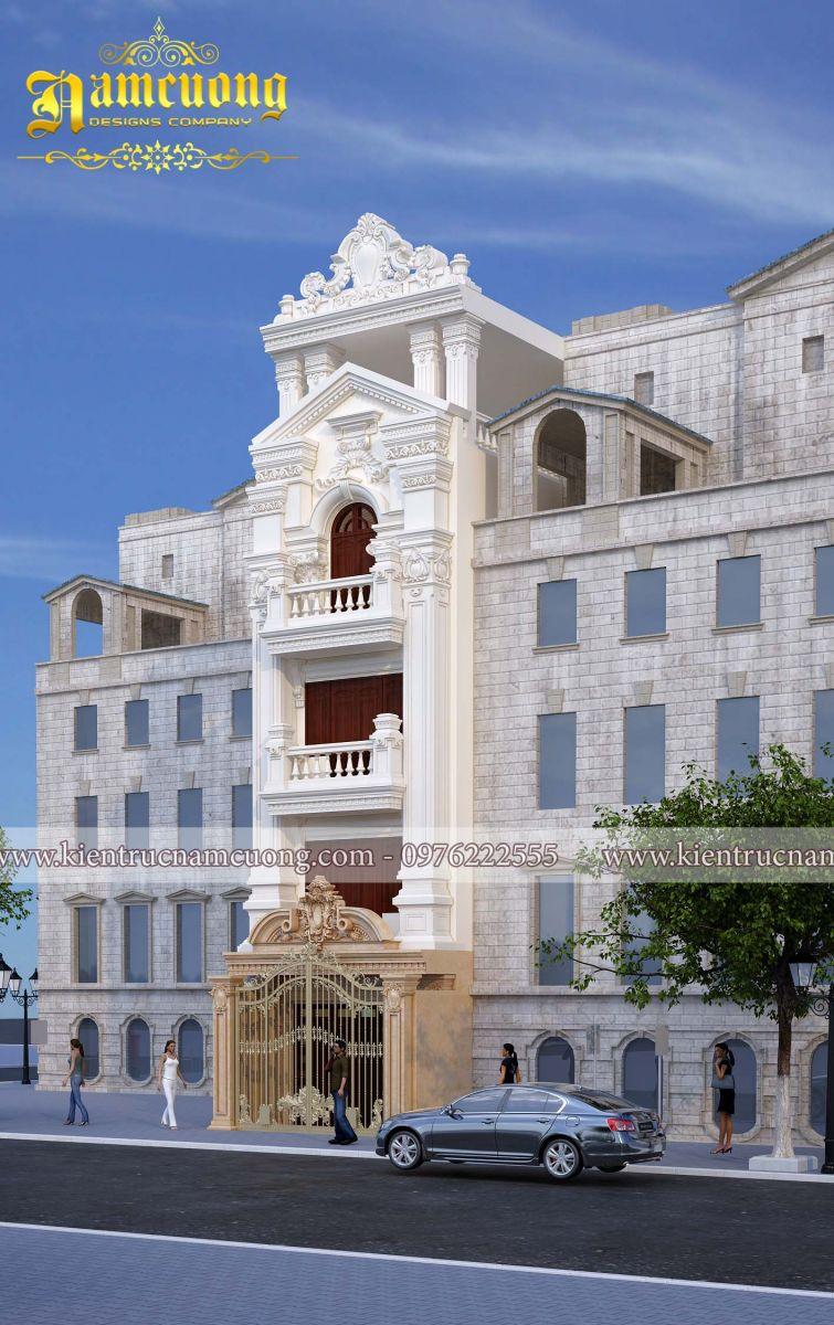 Thiết kế biệt thự Pháp 5 tầng đẹp sang trọng tại Đà Nẵng - BTP 013