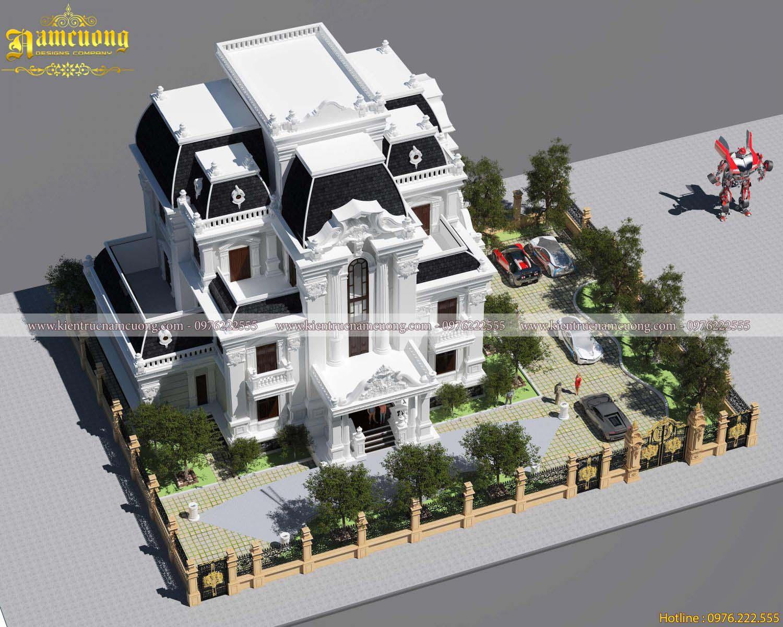 Biệt thự Pháp- Nhà kiểu Pháp cổ tại Sài Gòn - BTP 015