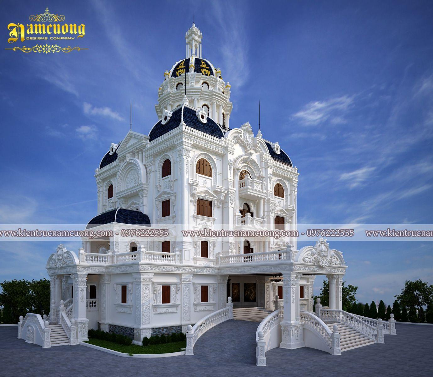 Thiết kế biệt thự Pháp kiểu lâu đài lộng lẫy tại Hà Nội