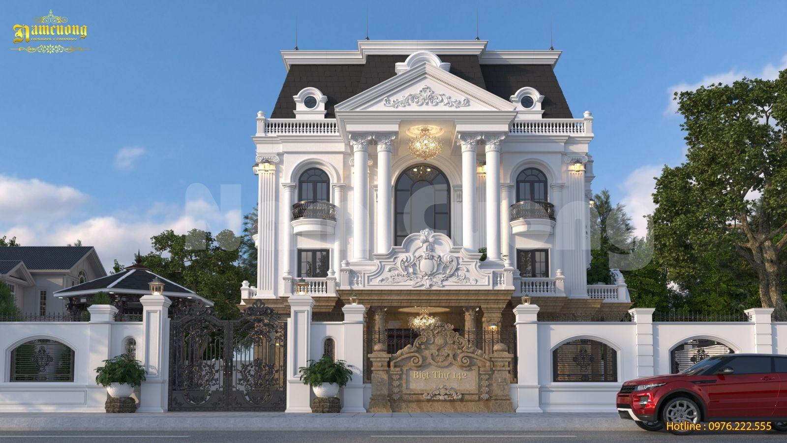 Mẫu thiết kế biệt thự Pháp 4 tầng đẳng cấp hoàng gia