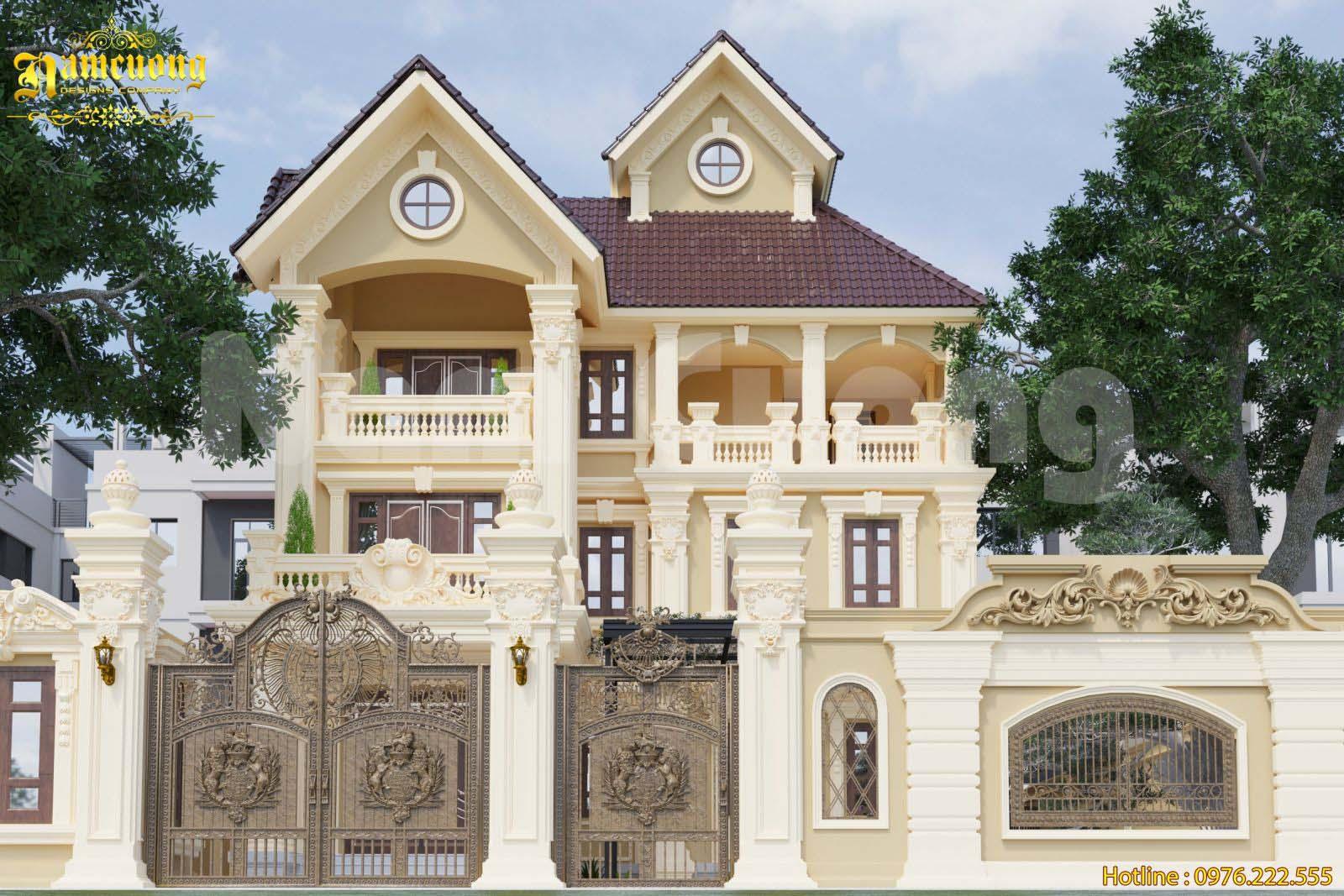 Thiết kế biệt thự Pháp 3 tầng cuốn hút người nhìn tại Hà Nội