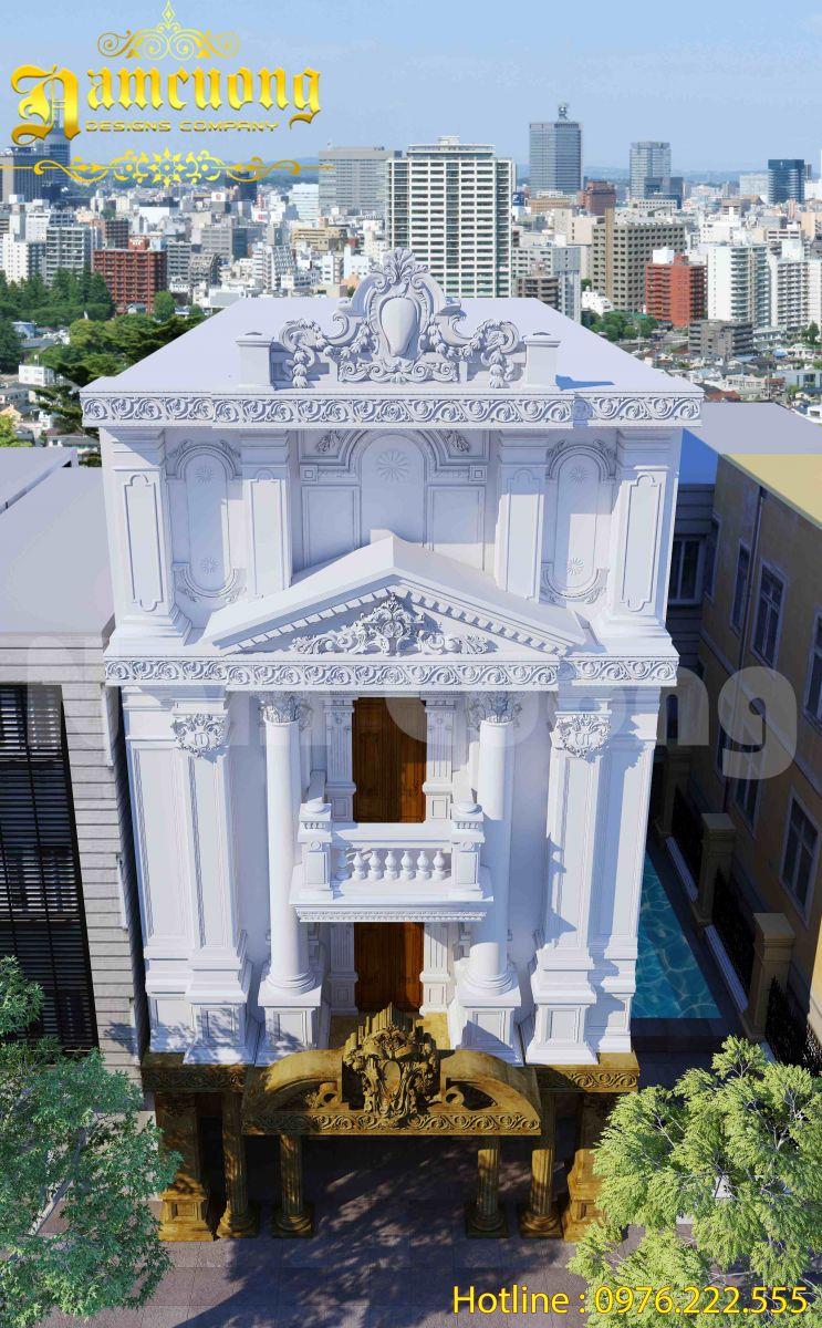 Thiết kế nhà Pháp cổ điển 3 tầng tại Tiền Giang - NOP 001