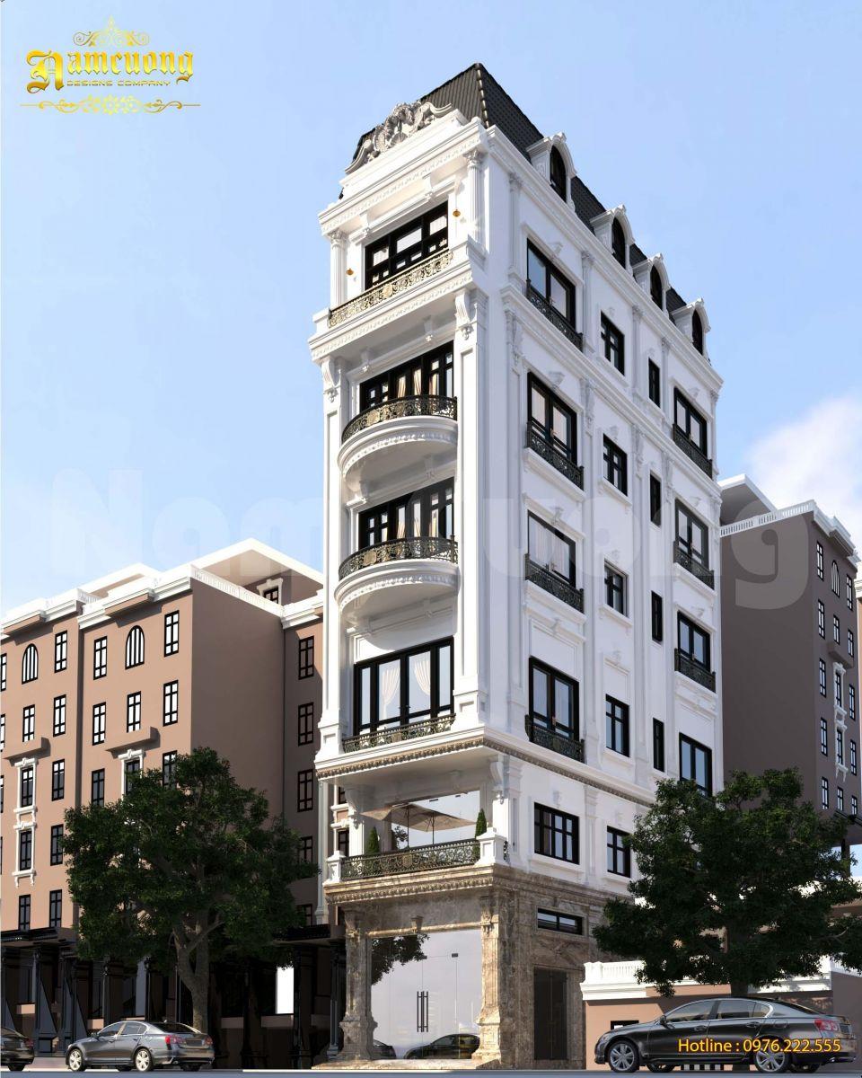 Chiêm ngưỡng mẫu nhà phố tân cổ điển 6 tầng đẹp mãn nhãn