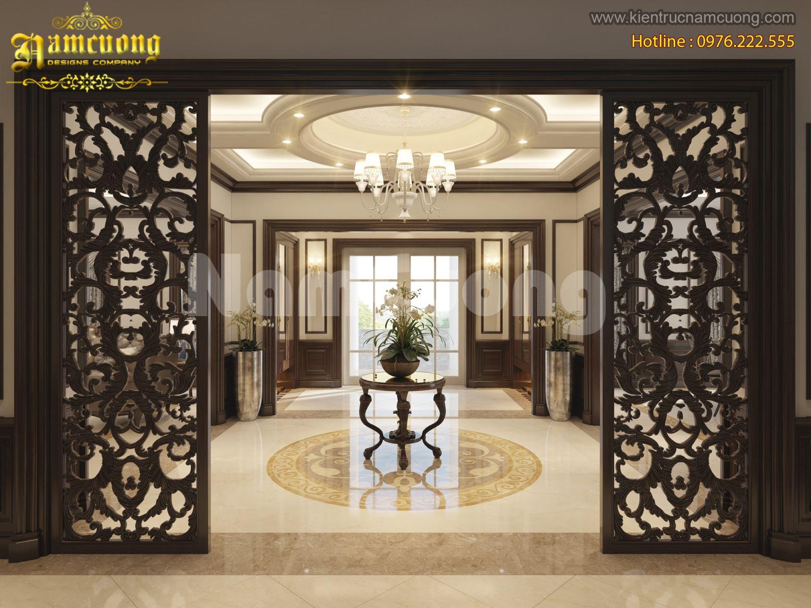 Nội thất biệt thự tân cổ điển Á Đông tại Hà Nội - NTBTCD 051