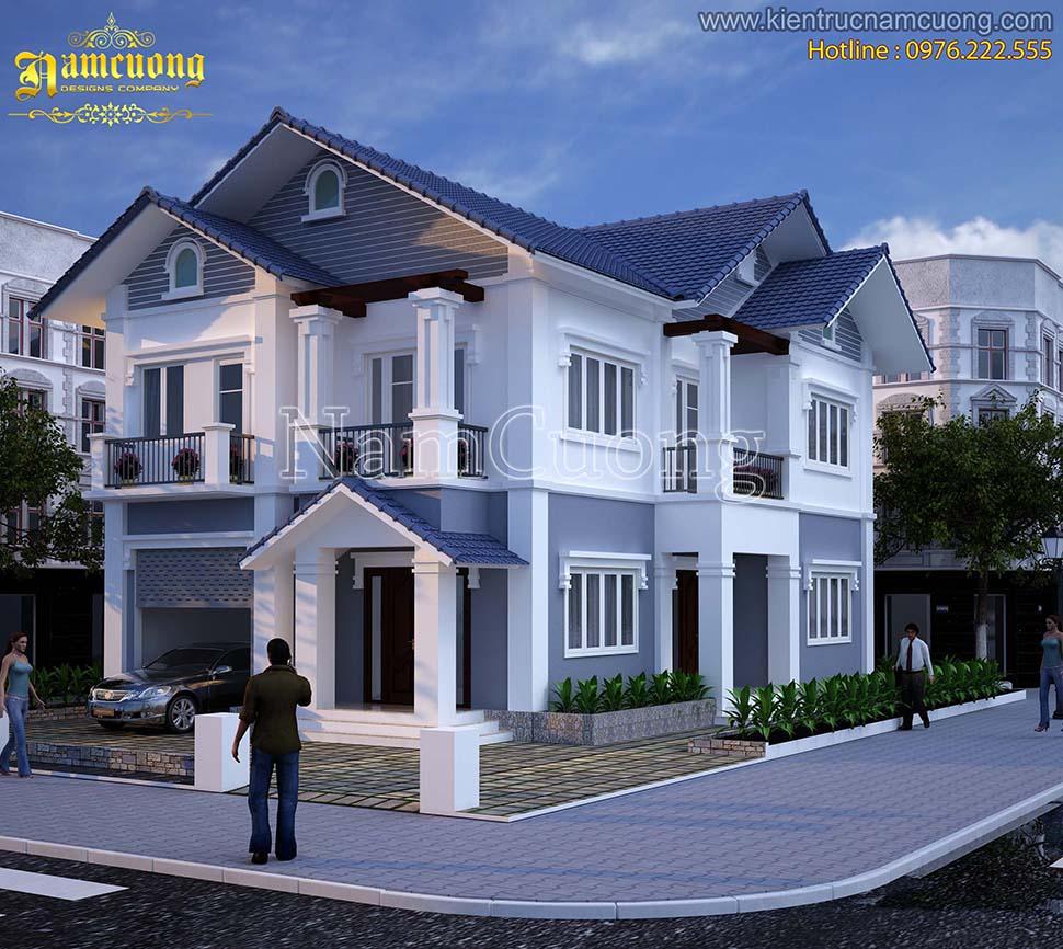 Thiết kế biệt thự tân cổ điển 2 tầng tại Quảng Ninh - BTCD 006