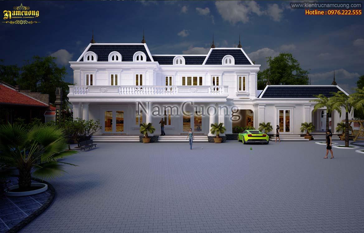 Mẫu thiết kế biệt thự vườn tân cổ điển đẹp tại Hải Phòng - BTCD 007