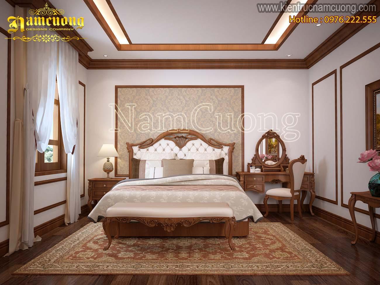 Mẫu thiết kế phòng ngủ biệt thự tân cổ điển tại Hà Nội - NTPNCD 074