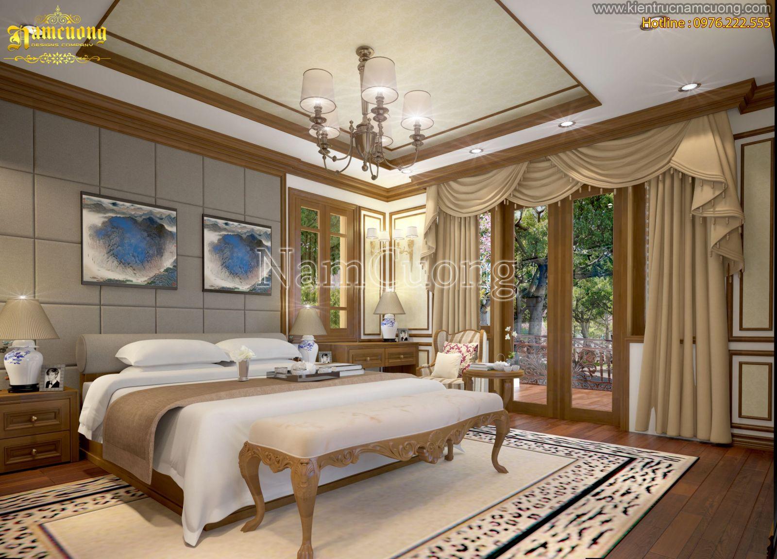 Mẫu phòng ngủ biệt thự tân cổ điển tại Quảng Ninh - NTNTCD 031