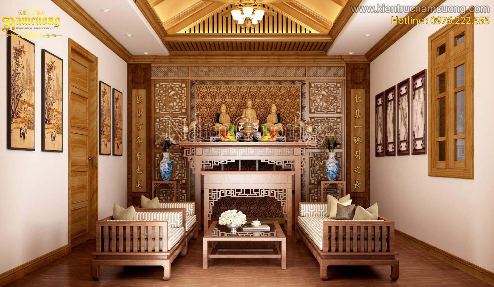 Ý tưởng phòng thờ cho biệt thự tân cổ điển tại Hải Phòng - NTPT 004