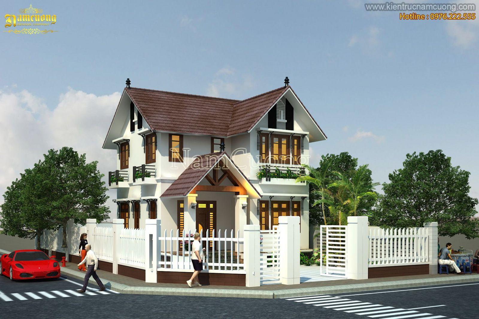 Thiết kế biệt thự tân cổ điển 2 tầng tại Hải Phòng - BTCD 010