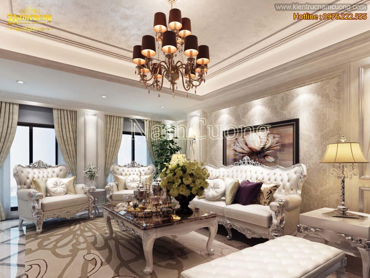 Những mẫu thiết kế phòng khách đẹp cho biệt thự tân cổ điển