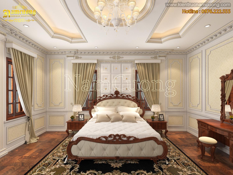 Không gian phòng ngủ đẹp cho biệt thự kiến trúc Pháp - NTNCD 066