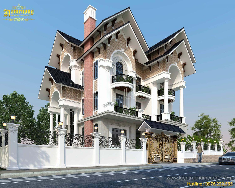 Thiết kế biệt thự 4 tầng kiến trúc tân cổ điển ấn tượng - BTCD 023