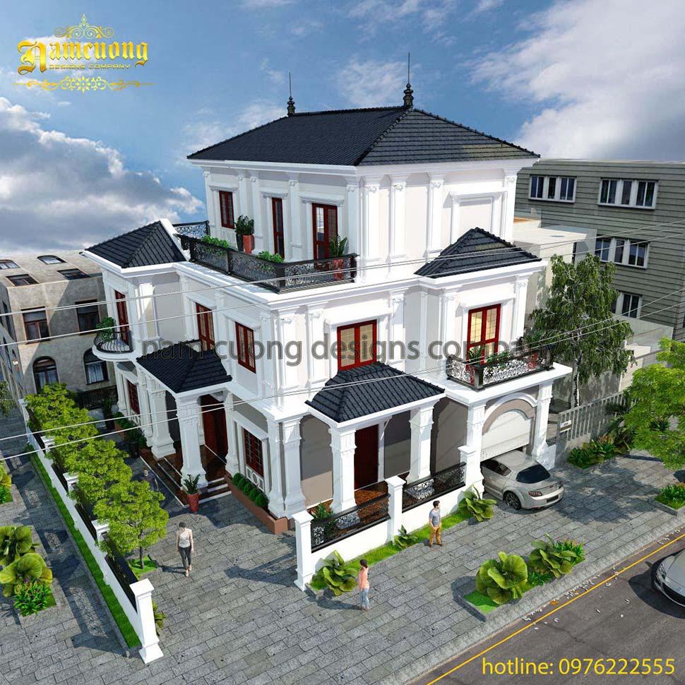 Biệt thự tân cổ điển- Thiết kế biệt thự đẹp tại Hải Phòng