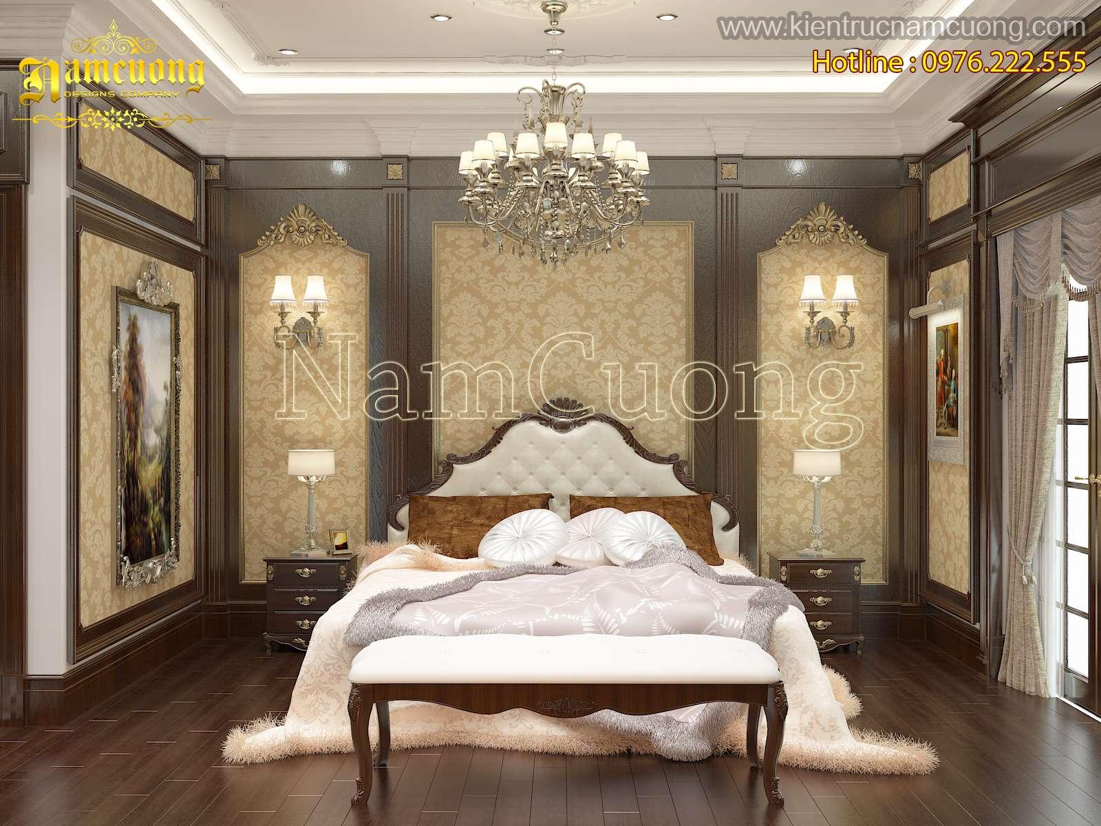 Không gian phòng ngủ đẹp cho biệt thự tân cổ điển tại Hải Phòng - PNCD 070