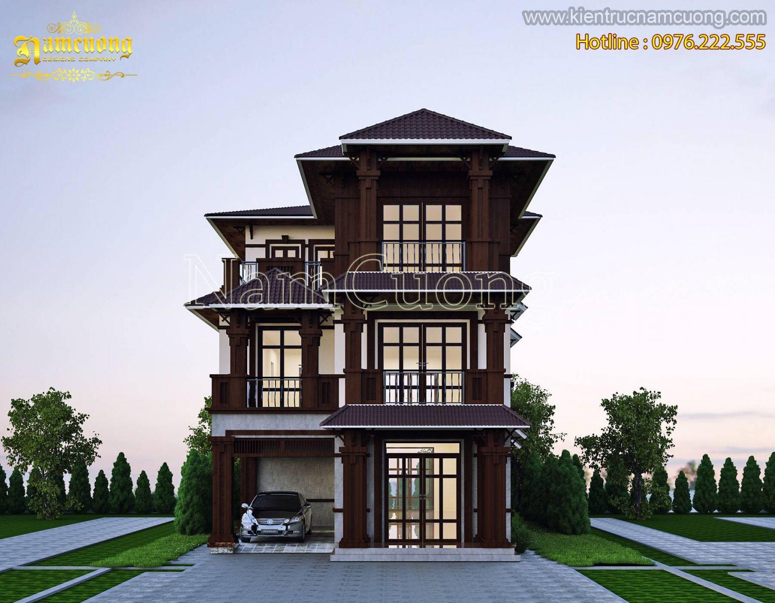 Mẫu biệt thự đẹp phong cách tân cổ điển tại Hà Nội - BTCD 026