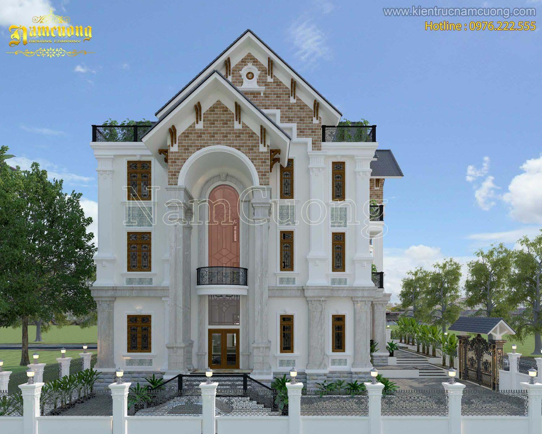 Mẫu thiết kế biệt thự tân cổ điển 3 tầng vô cùng đặc biệt