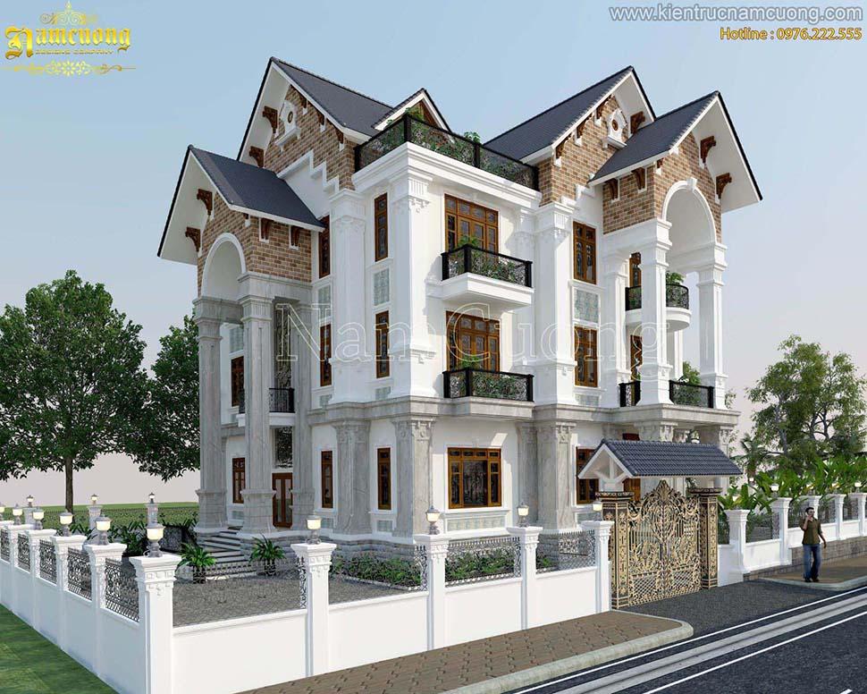 Biệt thự tân cổ điển-Nhà tân cổ điển 3 tầng tại Sài Gòn