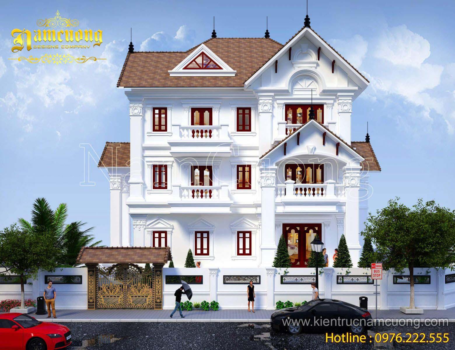 Bản vẽ 2d biệt thự tân cổ điển tại Quảng Bình