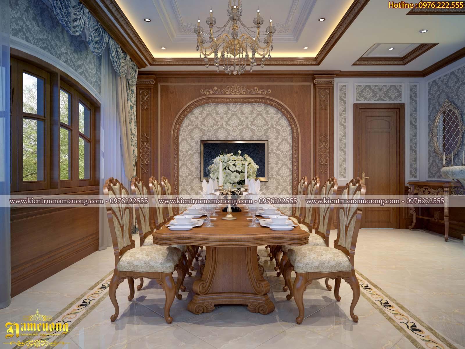 Mẫu thiết kế nội thất biệt thự tân cổ điển đẹp tại Hà Nội - NTBTCD 055