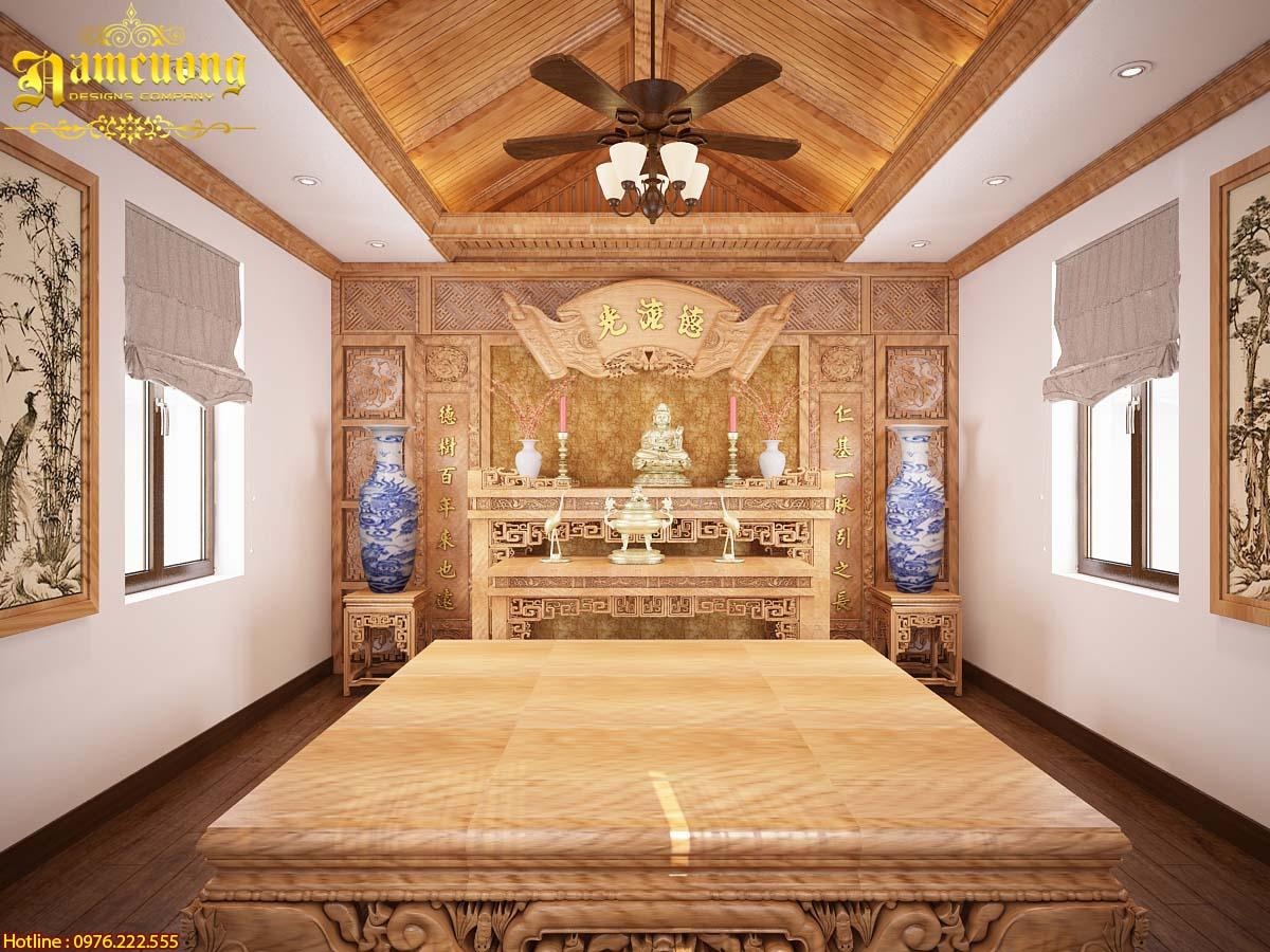 Tham khảo các mẫu nội thất phòng thờ cho mẫu biệt thự tân cổ điển