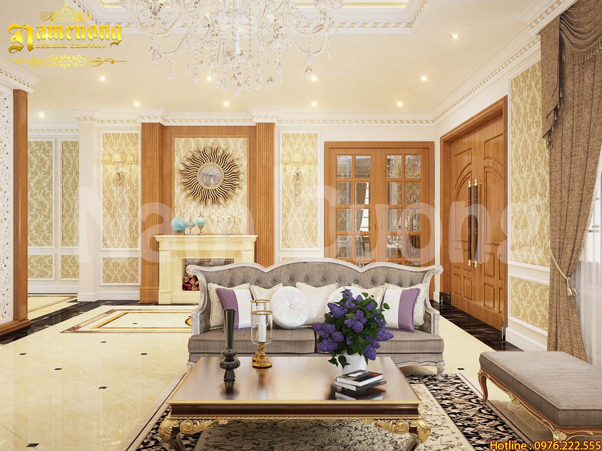Thiết kế nội thất biệt thự tân cổ điển đẹp tại Sài Gòn