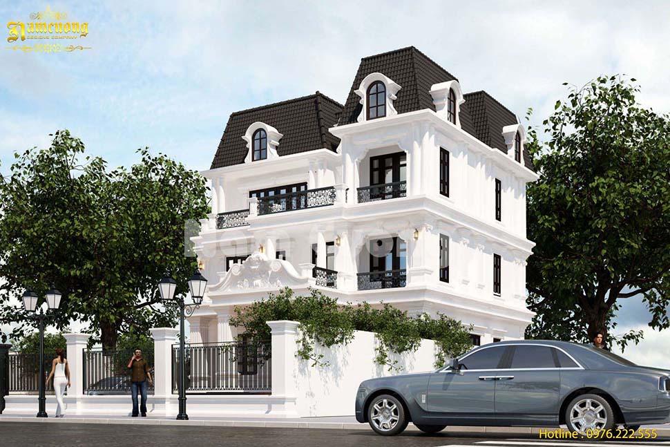 Mẫu thiết kế nhà tân cổ điển 3 tầng tại Hải Phòng - BTCD 038