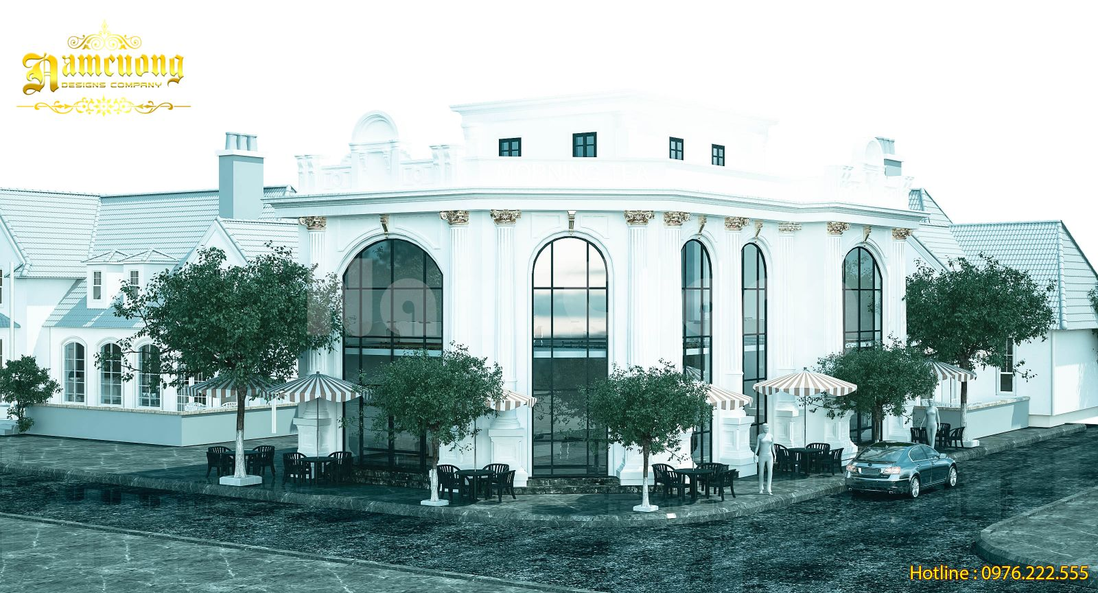 Mẫu biệt thự tân cổ điển đẹp tại Hải Phòng - BTCD 039