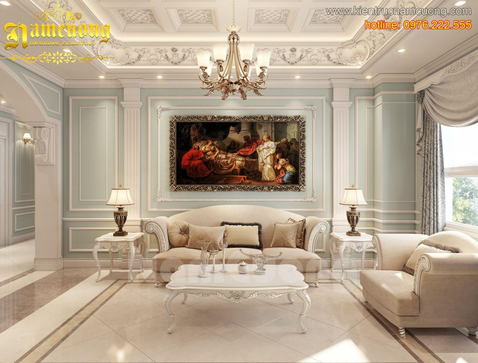 Thiết kế căn hộ chung cư tân cổ điển tại Sài Gòn - CHCC 001