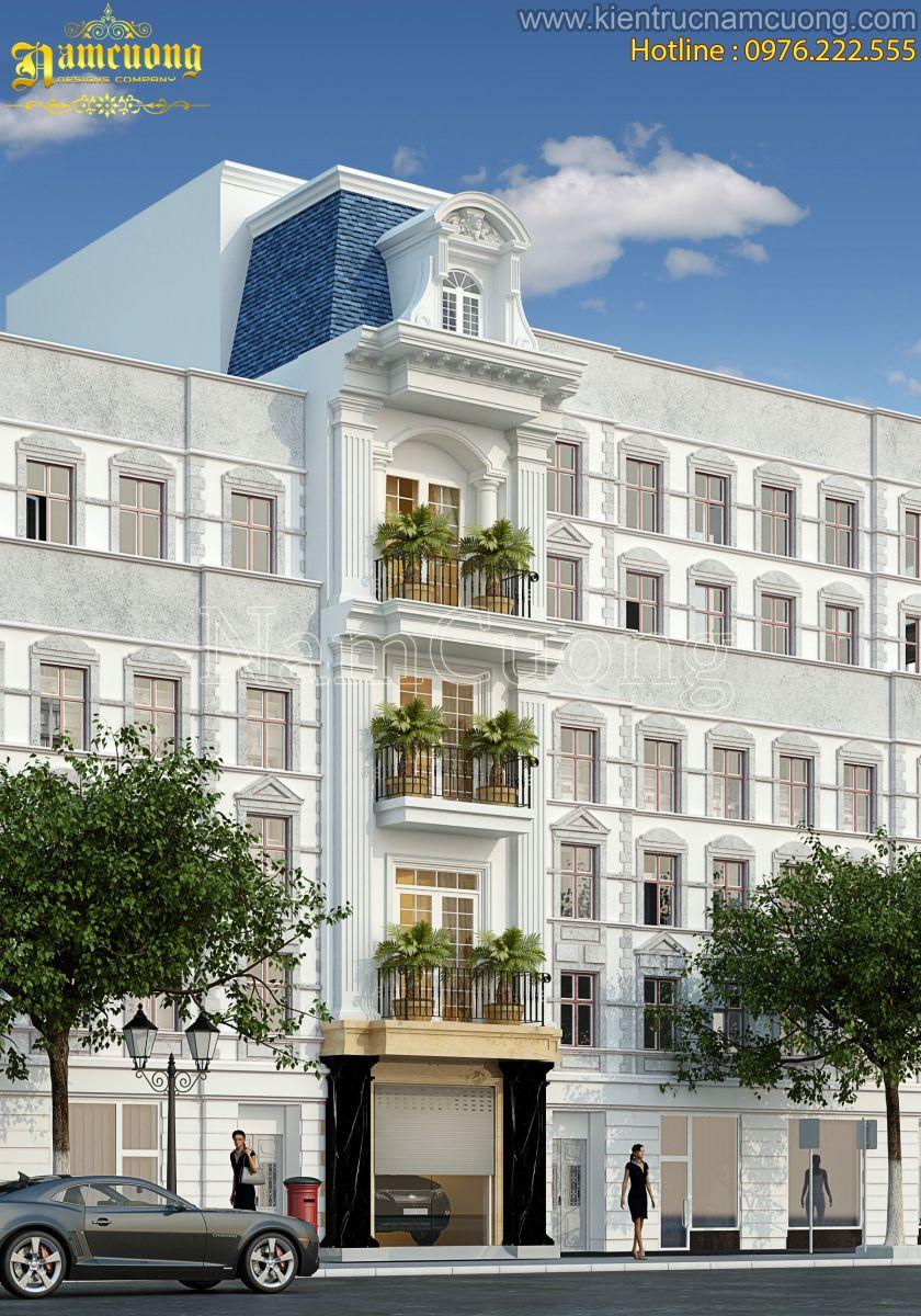 Mẫu nhà phố kiến trúc tân cổ điển 5 tầng tại Quảng Ninh - NPTCD 002
