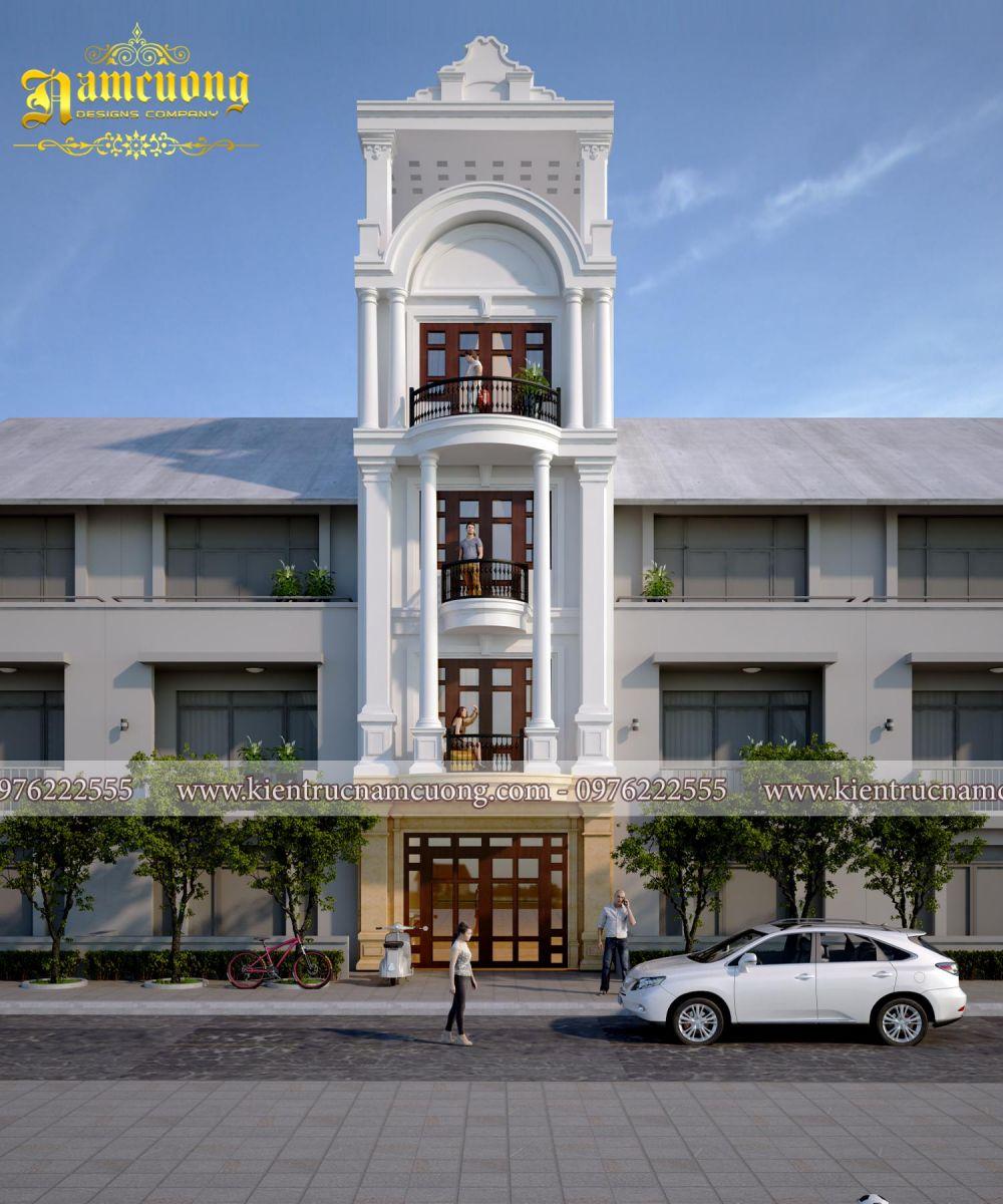 Thiết kế nhà ống tân cổ điển 5 tầng tại Đà Nẵng - NPTCD 005