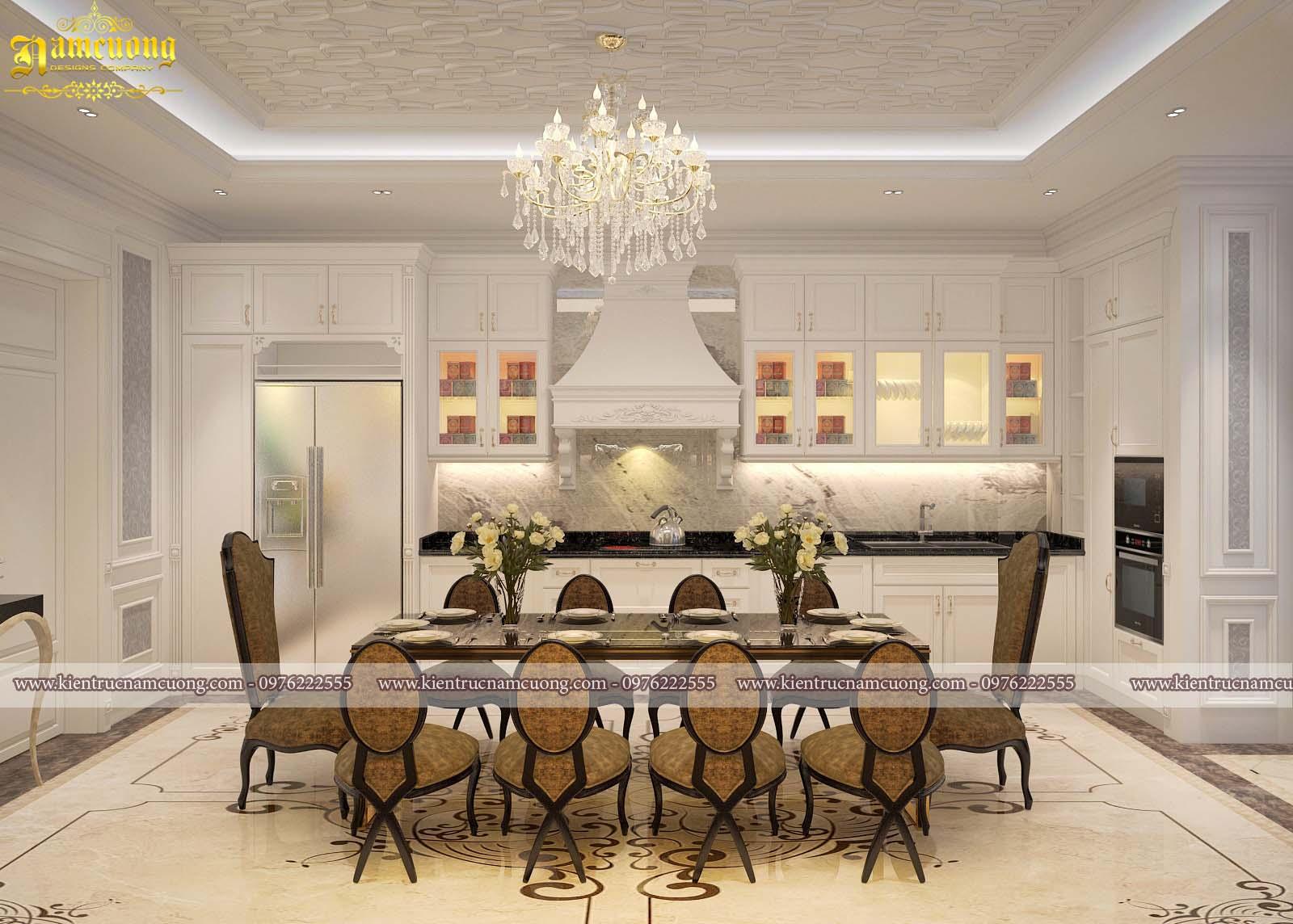 Thiết kế phòng bếp cho nhà tân cổ điển tại Hải Phòng - NTPBCD 001