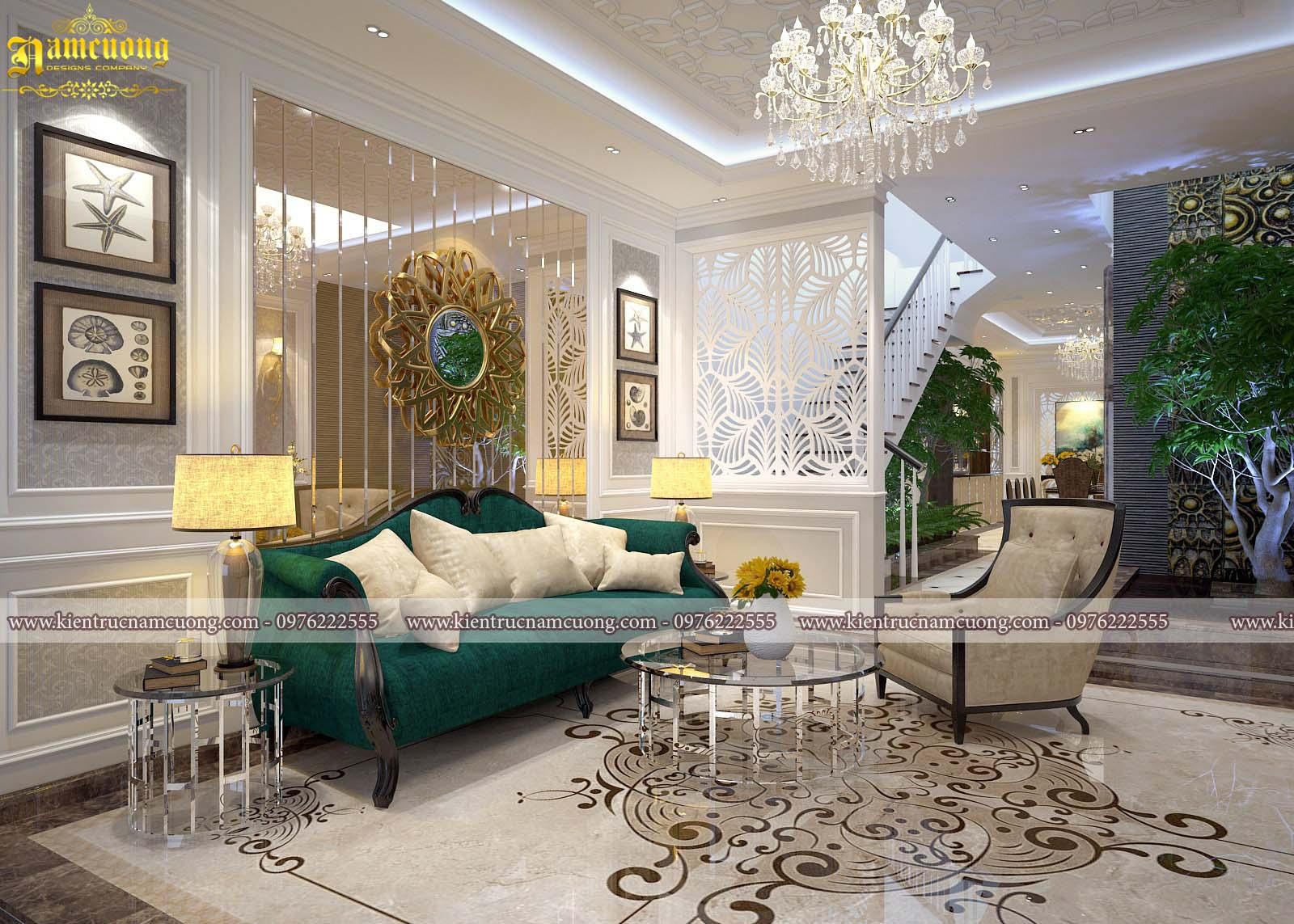 Thiết kế nội thất biệt thự tân cổ điển đẹp tại Hà Nội  - NTBTCD 049