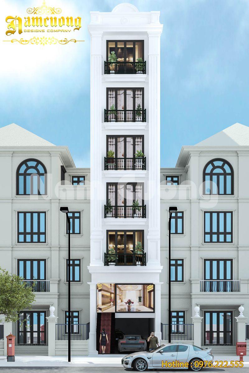 Thiết kế nhà ống tân cổ điển 7 tầng tại Hải Phòng - NPTCD 014