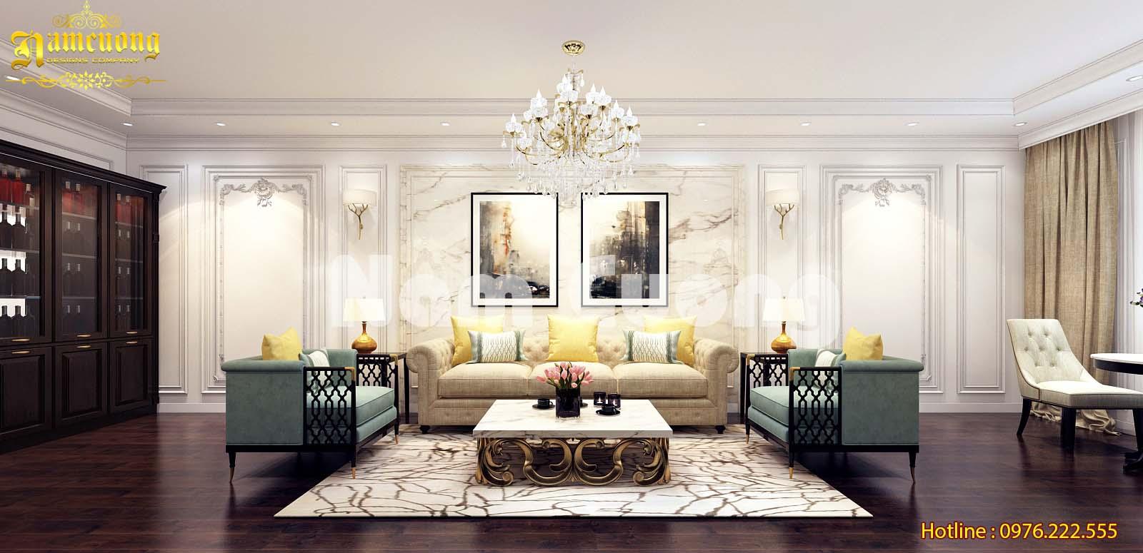 Mẫu thiết kế nội thất tân cổ điển sang trọng cho nhà ống