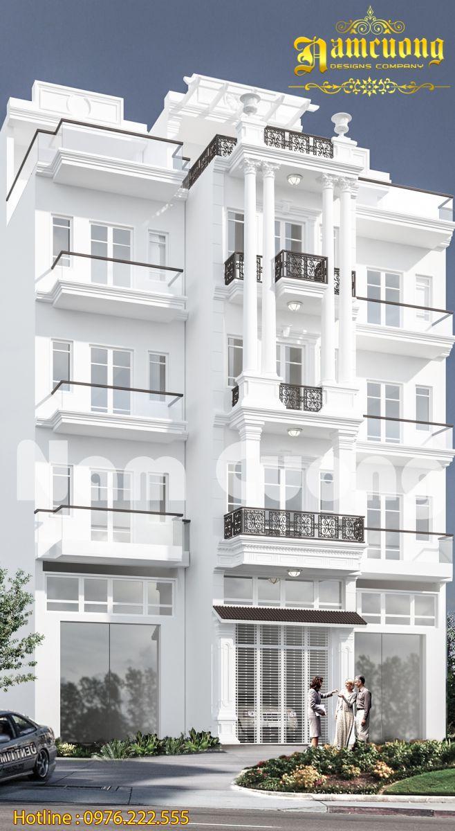 Hoàn thành công trình mẫu thiết kế nhà ống tân cổ điển tại Hải Phòng - NPTCD 020