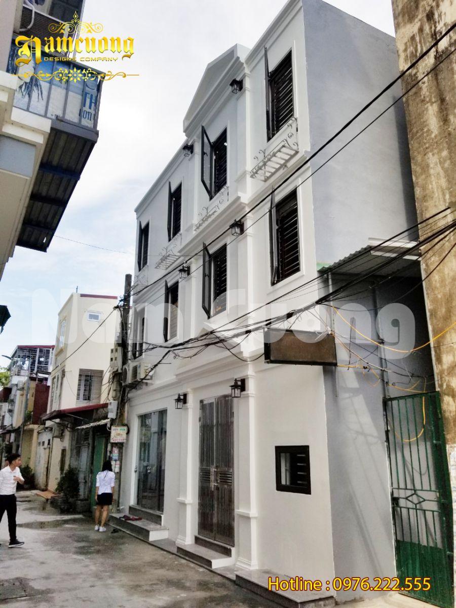 Hoàn thành thi công nhà đẹp 3 tầng diện tích nhỏ