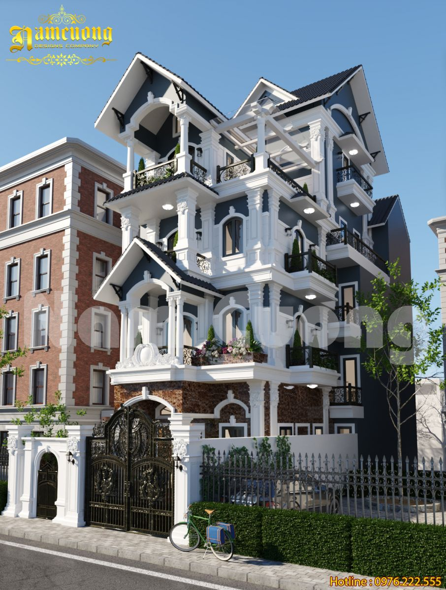 Gợi ý mẫu biệt thự Pháp 4 tầng đẹp cho chủ đầu tư khó tính